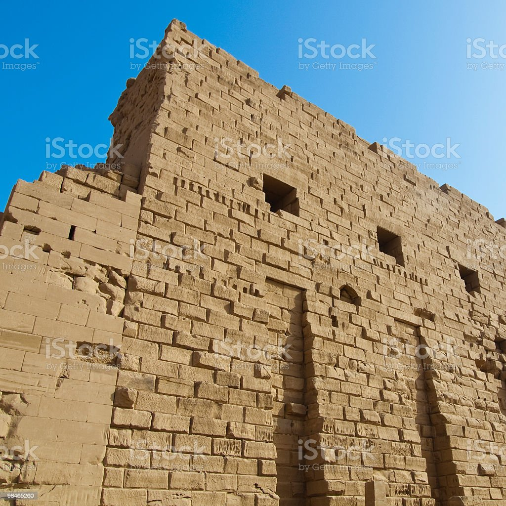 wall of the Karnak temple royalty-free stock photo