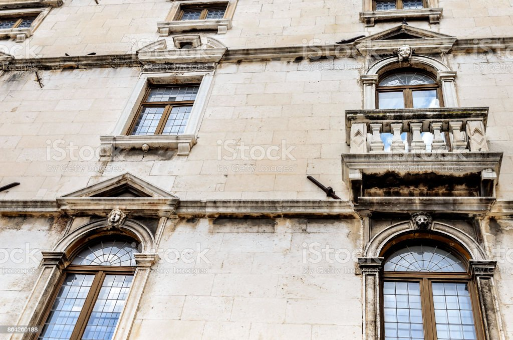 Wall of the old house. royalty-free stock photo