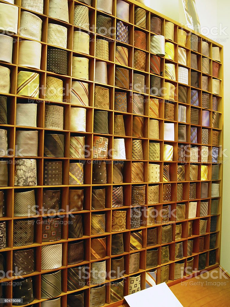 Wall of ties royalty-free stock photo
