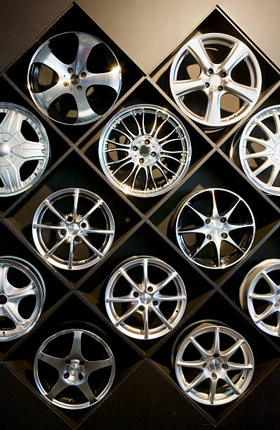 Wall of wheels #2 stock photo