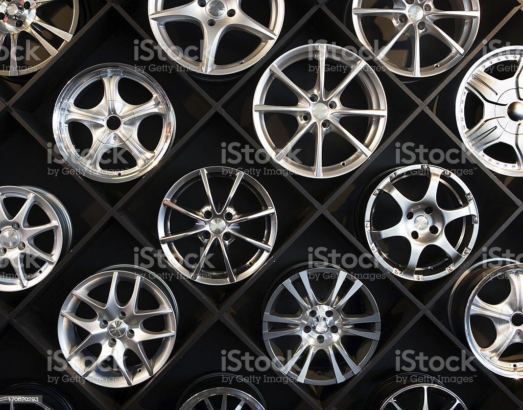 Wall of wheels #3 royalty-free stock photo
