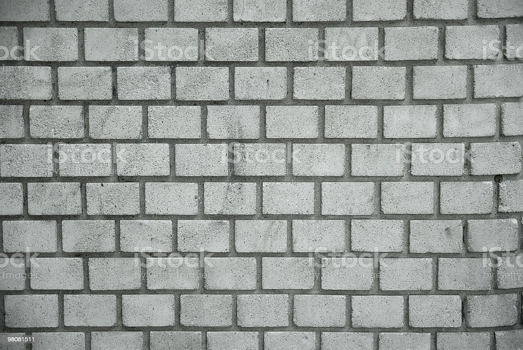 Wall of white bricks royalty-free stock photo