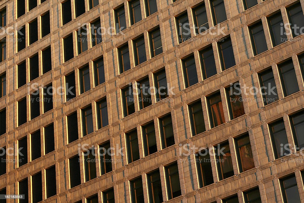 Wall of Windows. stock photo