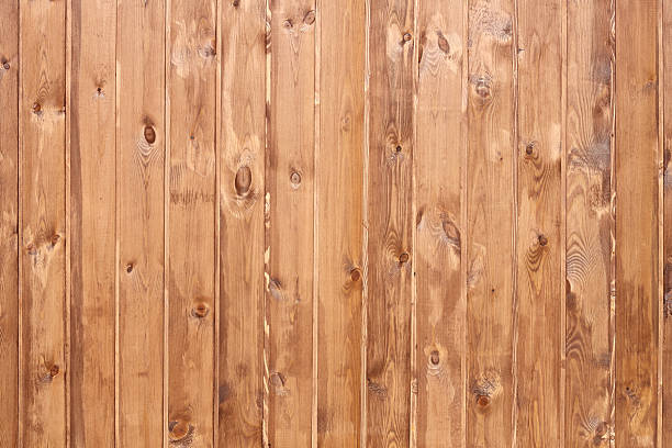 Wall of wooden planks. stock photo