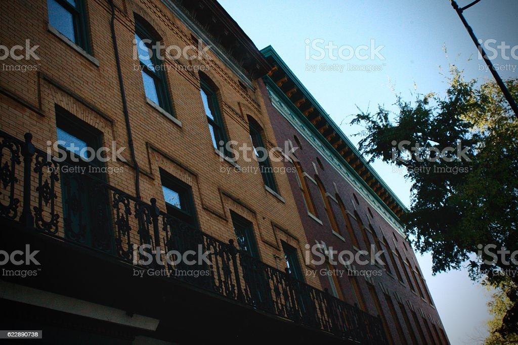 Wall on Broad Street stock photo