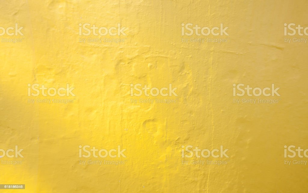 Wall painted yellow texture stock photo
