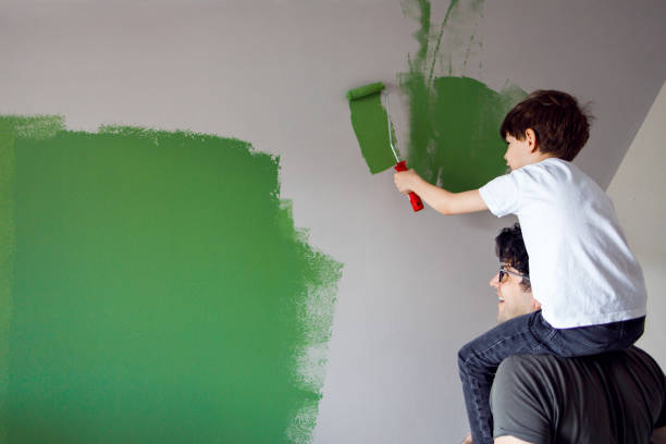 Wall painters stock photo