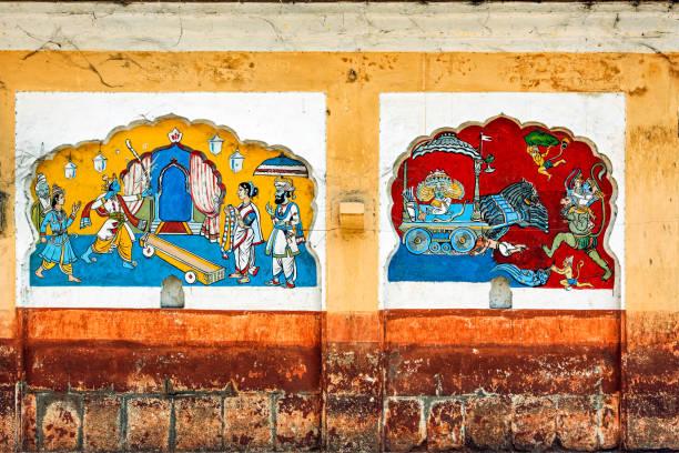 wall painting of Ramayana Shree Ram mandir-Tulsibaug Peshwa time -Pune-