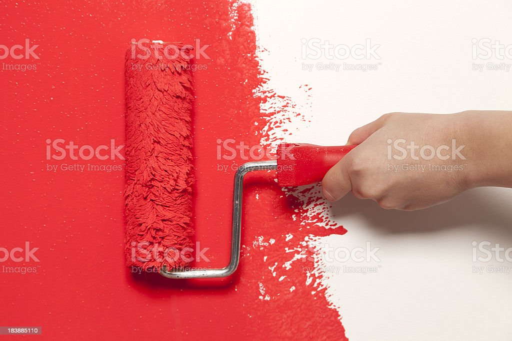 Wall painting stock photo