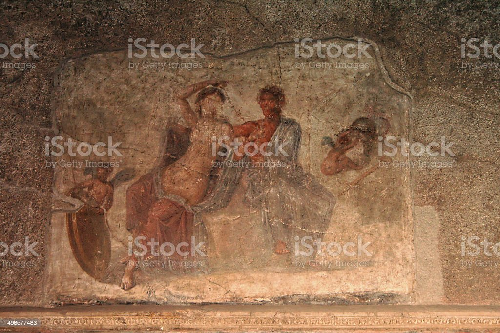 Wall Painting - Pompeii - Italy stock photo