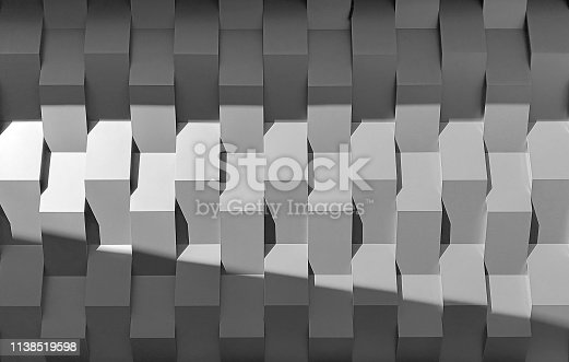 istock Wall panel seamless pattern with shadow. 1138519598