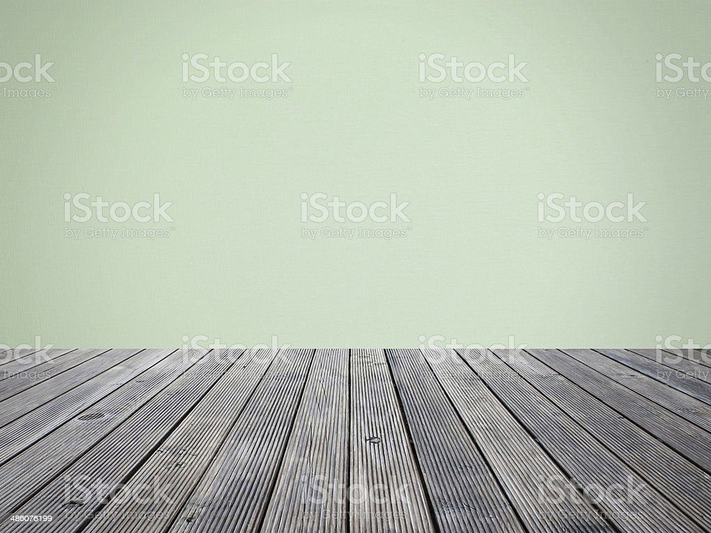 wall paper on floor wood  for backgroud stock photo