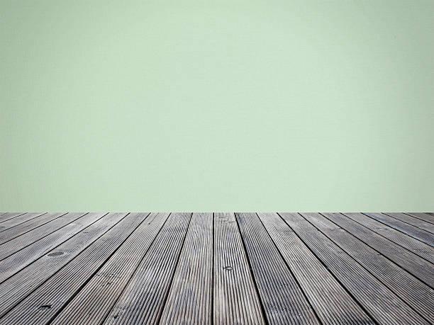 papier auf holz wand für backgroud etage - terrassen deck design stock-fotos und bilder