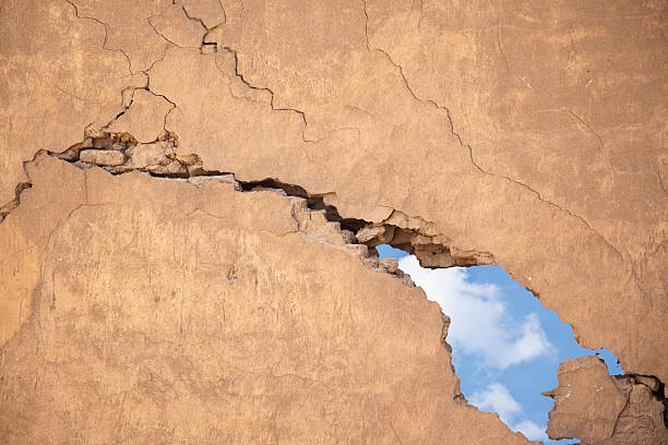 Wall Wall after earthquake demolished stock pictures, royalty-free photos & images