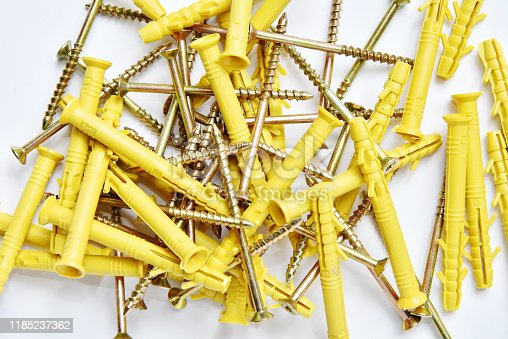 Plastic anchor and dowels for repair