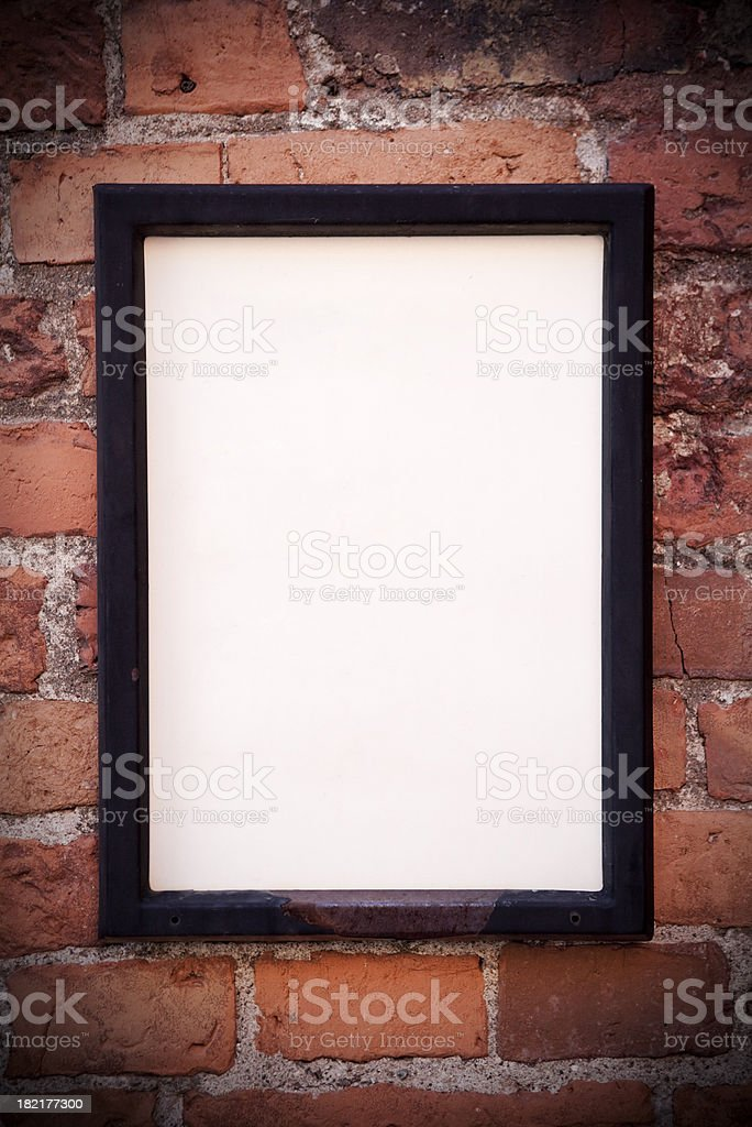Wall poster stock photo