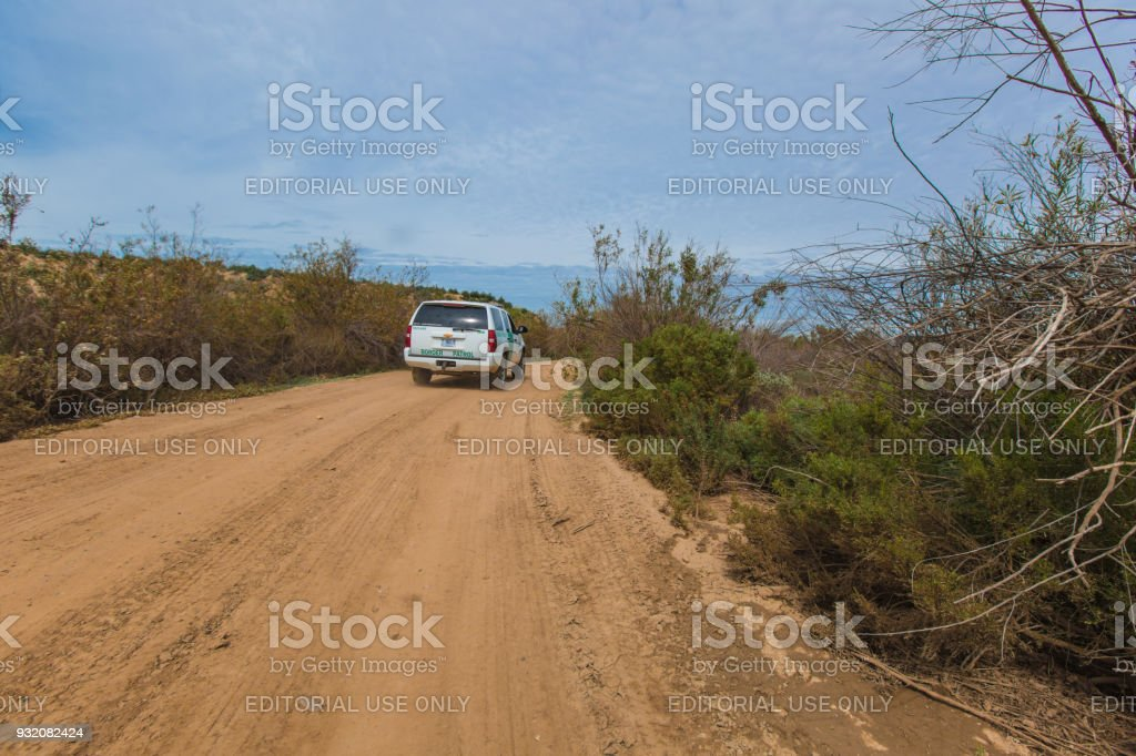 Wall Prototype Along The Mexican Border Line From Mexico Stock Photo ...