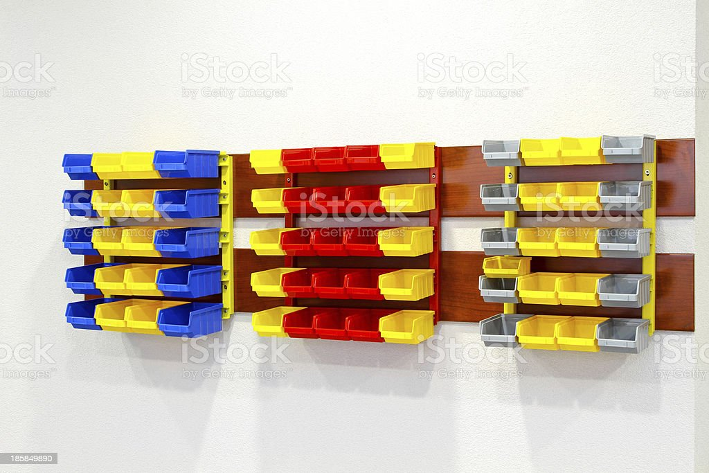 Wall rack royalty-free stock photo