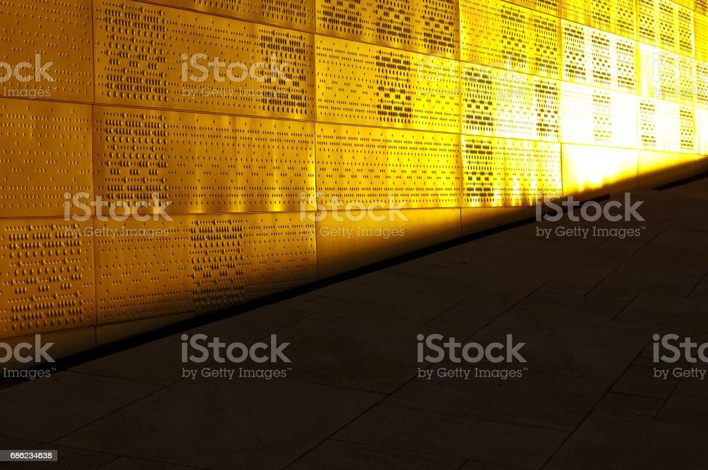 Wall reflection stock photo