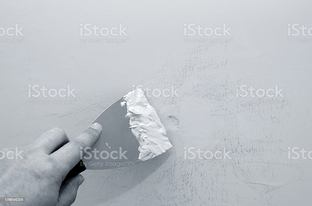 Wall repair stock photo