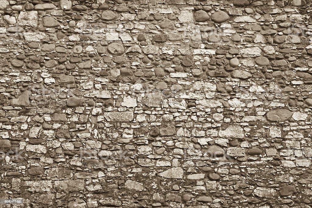 Wall Rocks Background, Sepia Toned royalty free stockfoto