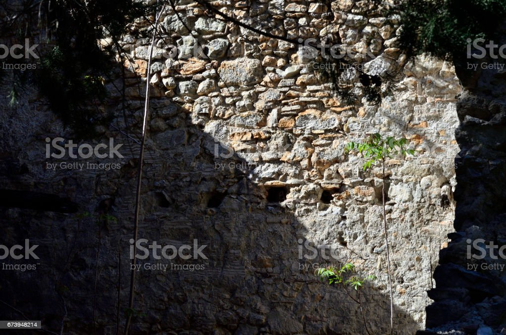 Wall rocks house royalty-free stock photo