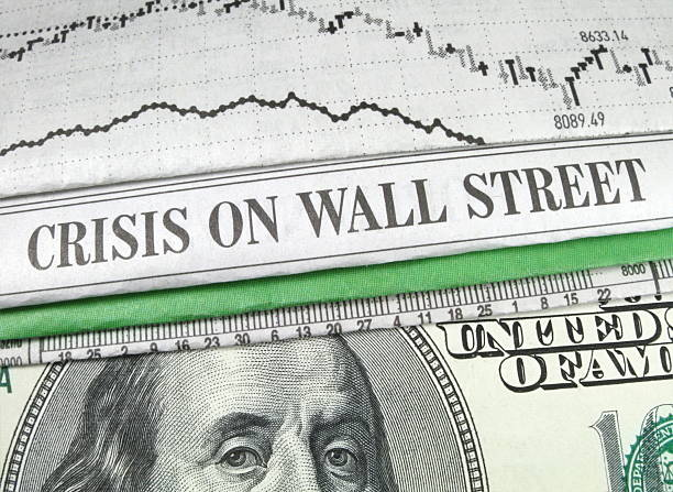 Wall Street and Cash stock photo