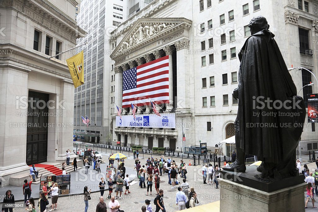 Wall Street and NYSE, New York stock photo