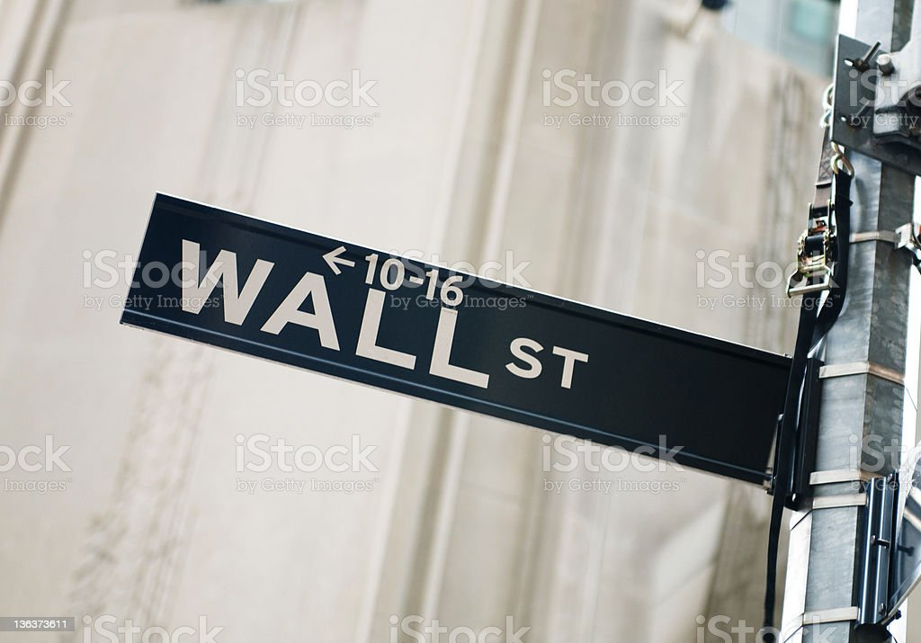 Wall street and stock exchange royalty-free stock photo