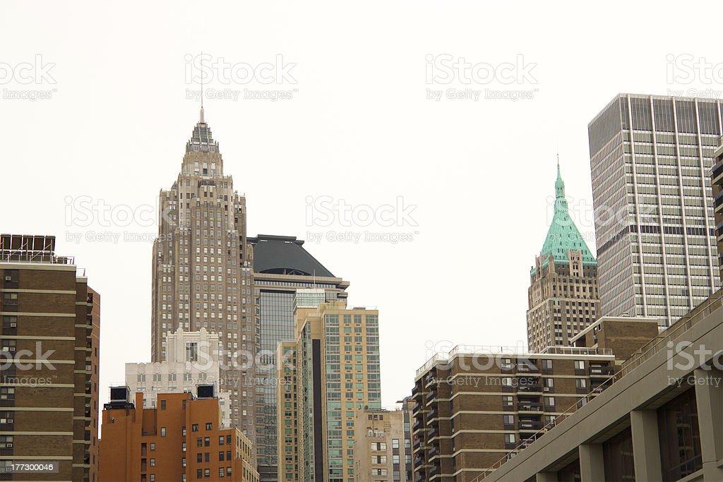 Wall Street buildings, NYC stock photo