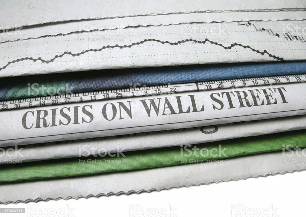 Wall Street Crisis royalty-free stock photo