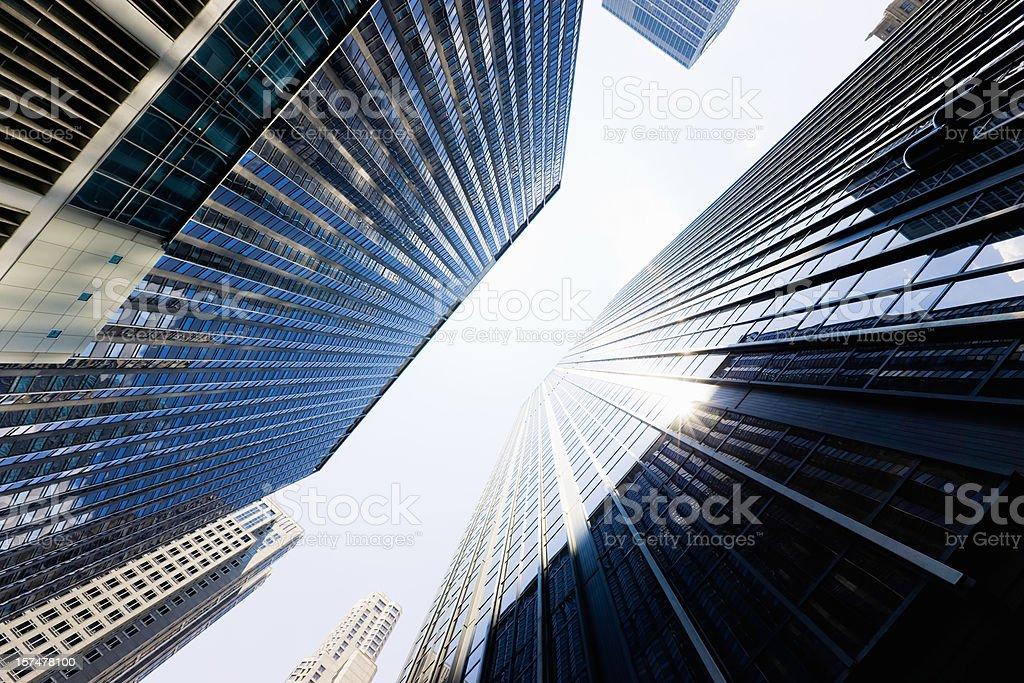 Wall Street Highrise New York City royalty-free stock photo