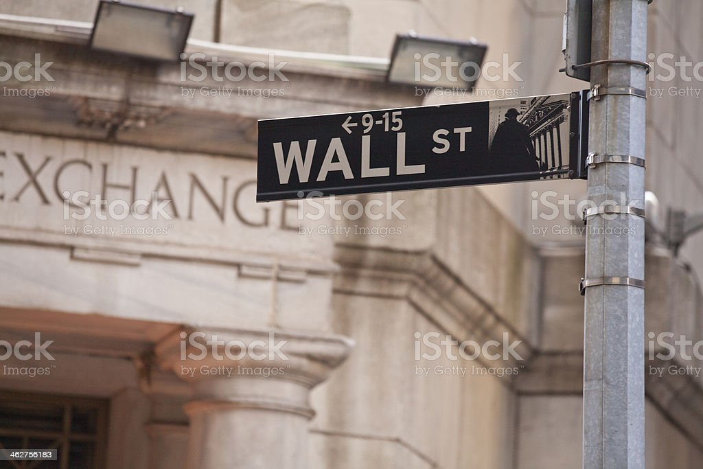 Wall Street in New York City stock photo
