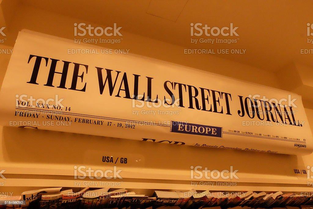 Wall Street Journal Banner stock photo