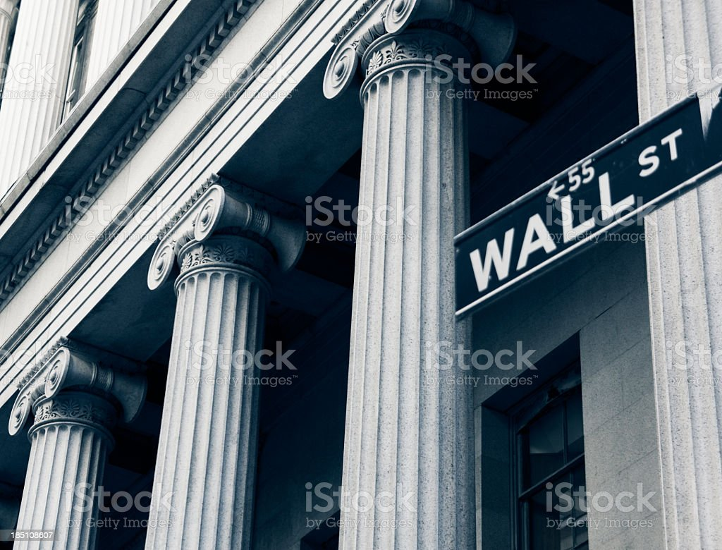 Wall Street New York City stock photo