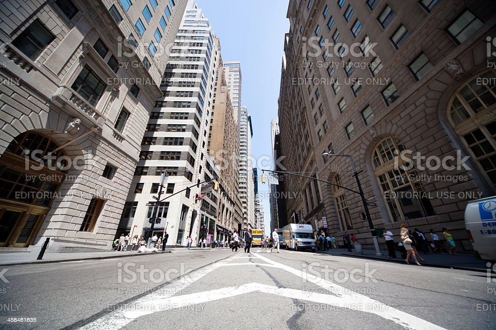 Wall Street, New York City royalty-free stock photo