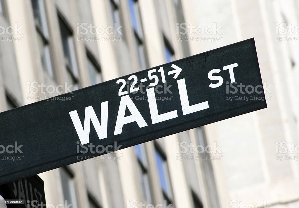 Wall Street - New York Financial Centre royalty-free stock photo