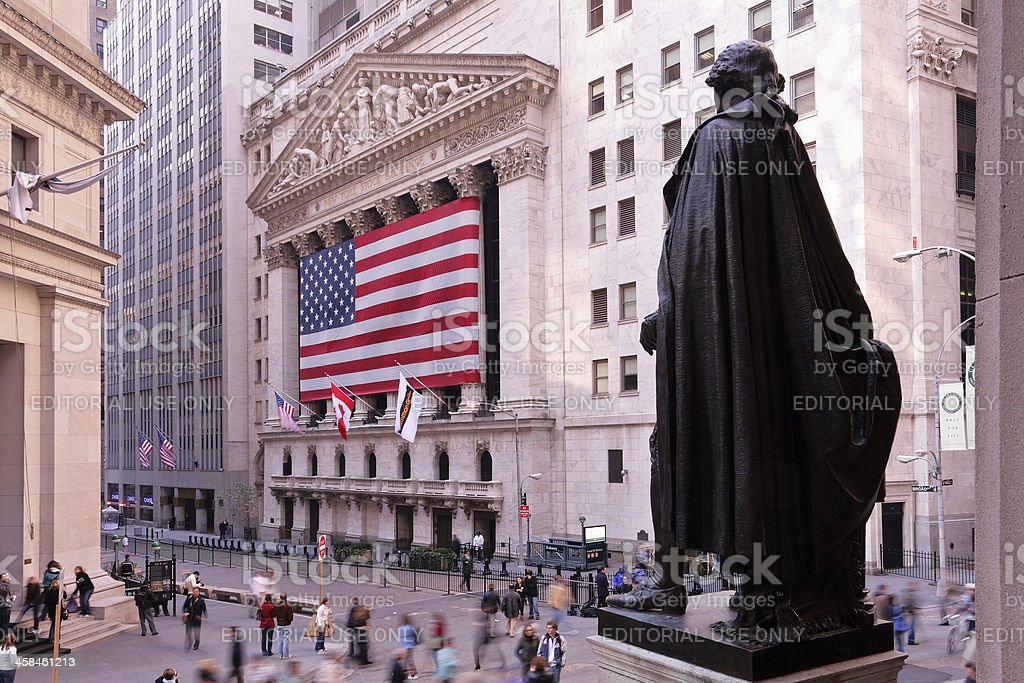 Wall Street New York stock photo