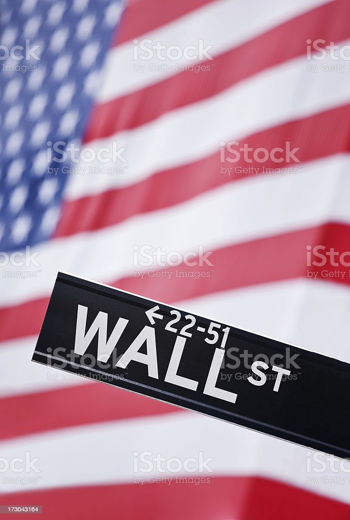 Wall Street NY royalty-free stock photo