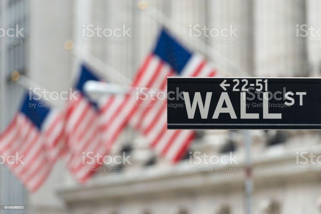 Wall Street  - foto de acervo