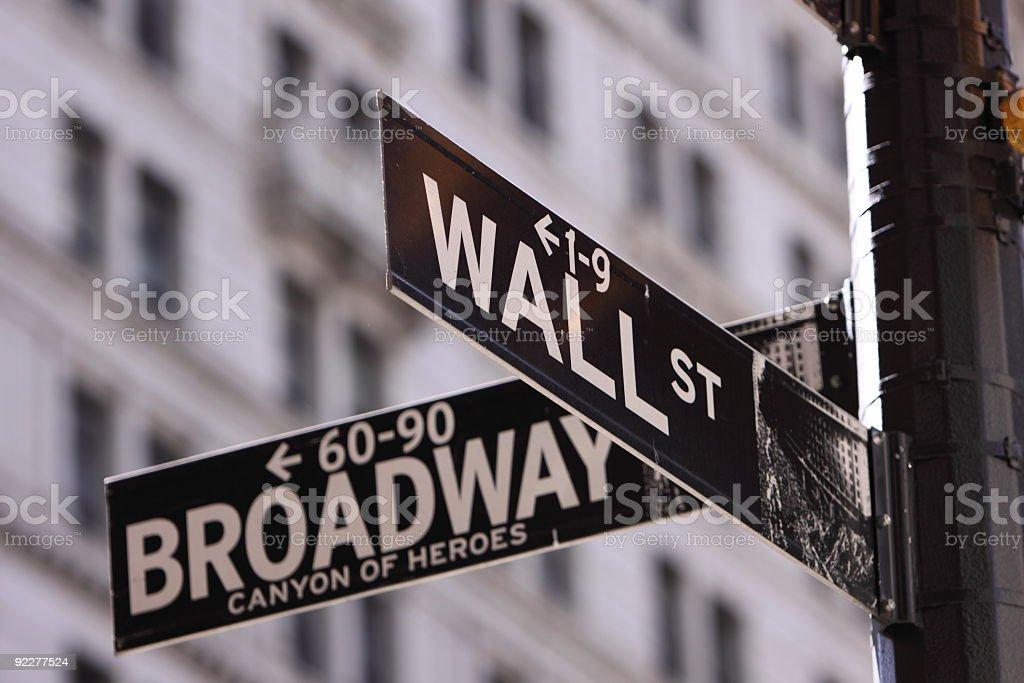Wall Street royalty-free stock photo