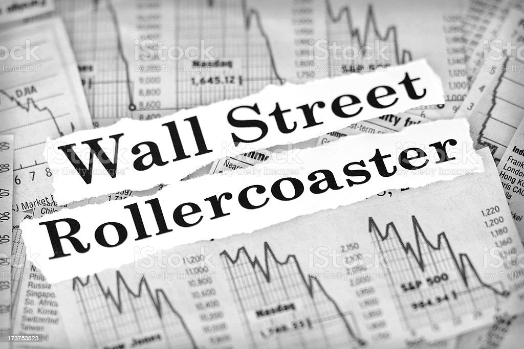 wall street rollercoaster royalty-free stock photo