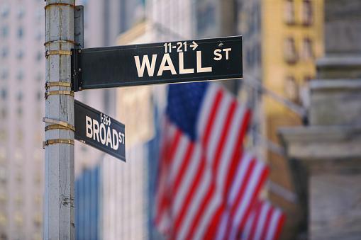 Wall Street, Lower Manhattan, New York City, USA