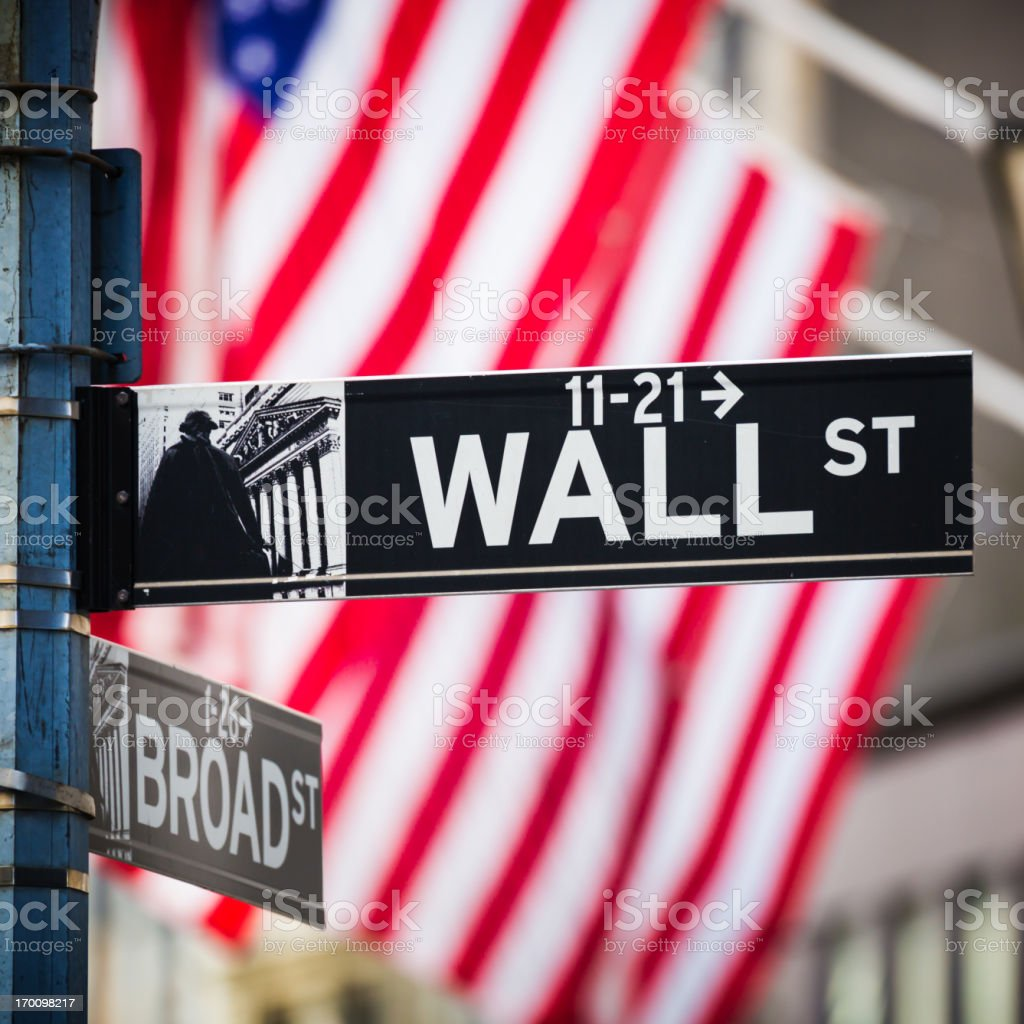 Wall-Street-Schild, New York City, USA – Foto