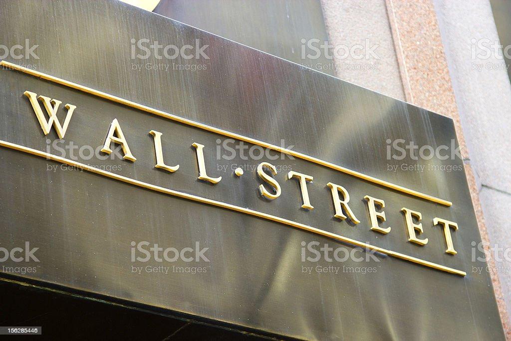 Wall Street Sign, New York stock photo