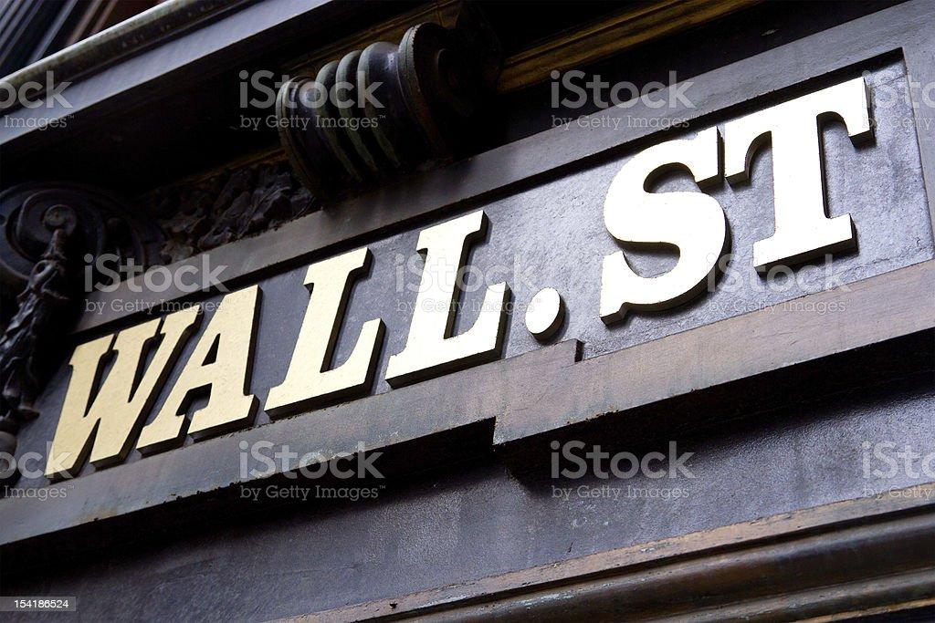 Wall Street Sign, NYC stock photo