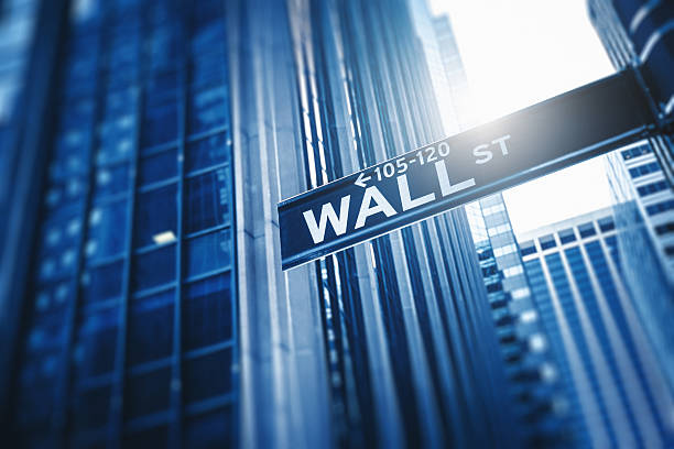 wall street sign on manhattan - new york stock exchange stock pictures, royalty-free photos & images