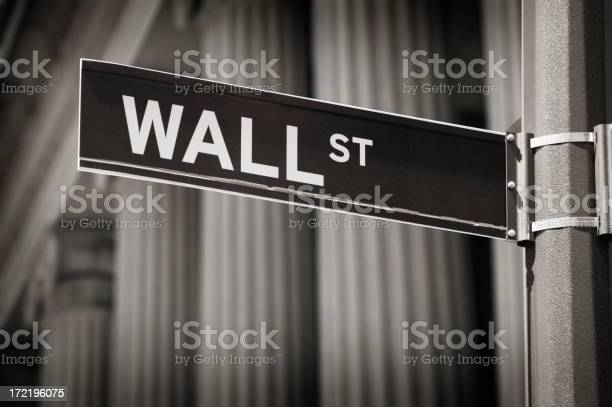 Wall Street Sign Stock Photo - Download Image Now