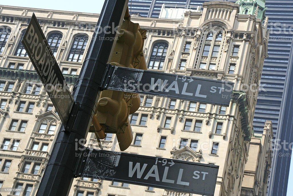 Wall street sign # 1 royalty-free stock photo