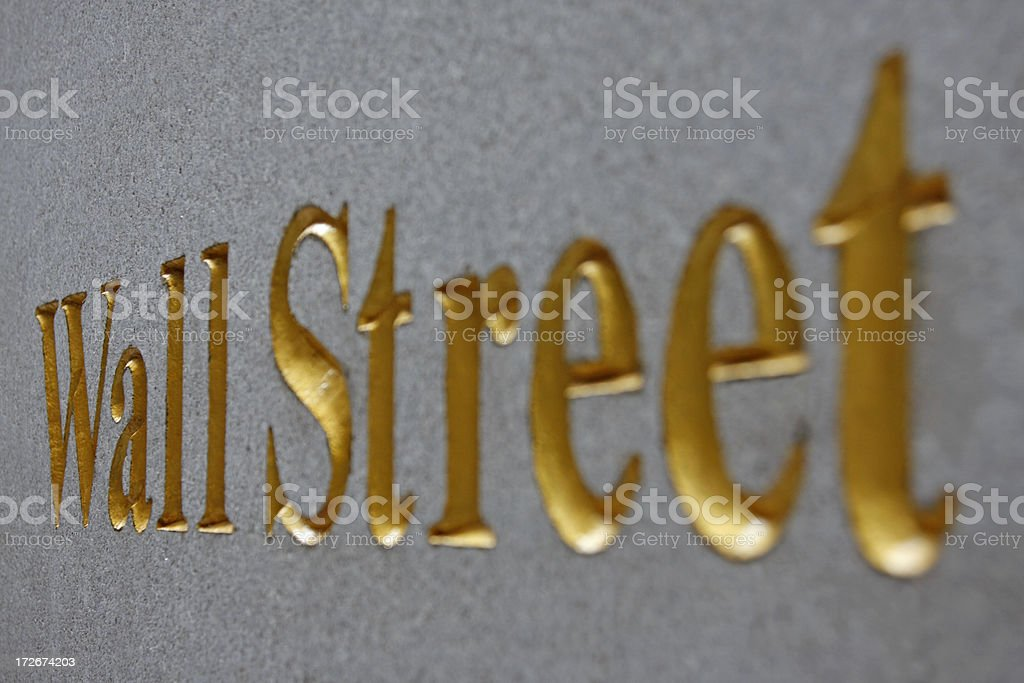 Wall Street sign # 4 royalty-free stock photo